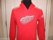 New Youth w/Tags Detroit Red Wings Majestic Long Sleeve Hooded Sweatshirt Hoodie