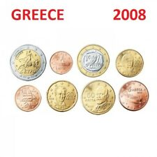 Series 2008 - 8 pieces  Coins  3,88 EURO Greece Grece -1 cent to 2 € EuropaBull