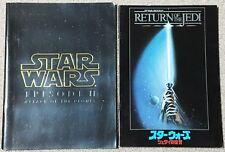 STAR WARS Movie Program 2 set lot JAPAN  EPISODE II VI Jedi Rare F/S