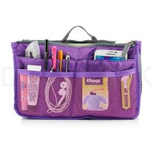 Purple Handbag Organizer Travel Bag Insert Liner Purse Organiser  Tidy Pouch