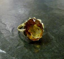 Goldring ovaler Citrin 585er Gold Ring 14 Karat Gelbgold Gr. 53 Citrinring GG