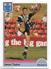 1992 NSW Rugby League REGINA Base Card (9) Jason TAYLOR Western Suburbs