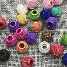DIY 12mm 10pcs lovely Round Wire Ball Beads Loose Beads Jewelry Making Mix