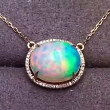 Natural Welo OPAL Women PENDANT S925 STERLING SILVER NECKLACE Gifts Wedding