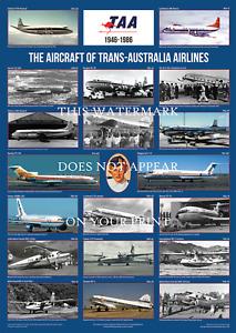 "TAA Aircraft 1946-86 – A1 Art Print – Multi-image Poster – 84 x 59 cm 33"" x 23"""