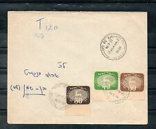 Israel Scott #J15-17 3rd Postage Due Tabs on Unfranked Taxed Cover!!