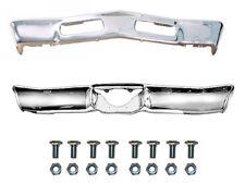 1969 Chevelle Malibu Front & Rear Bumper Kit W/ Bolts Triple Chrome Plated