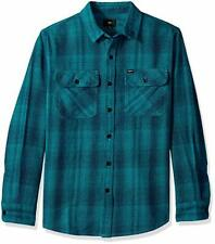 OBEY Men's MYLES Woven Flannel Shirt - Teal Multi - XL - NWT