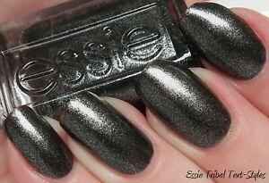Essie nail polish TRIBAL TEXT-STYLES Black gold crushed onyx