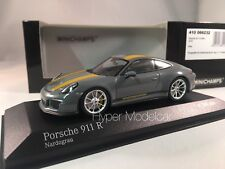 MINICHAMPS 1/43 Porsche 911 (991) R Coupè 2016 Grey Art.410066232