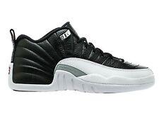 Air Jordan 12 Retro Low Playoff Big Kids 308305-004 Black White Shoes Size 6