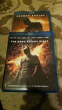 Batman Begins & The Dark Knight Rises - 2 Blu-Ray Movie Bundle - Free Shipping