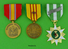 Vietnam Campaign, National Defense and Service Medal with 2 campaign stars US