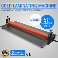 "51"" 1300MM LAMINATRICE A FREDDO COLD LAMINATOR PHOTO VINYL FILM ADESIVO GREAT"
