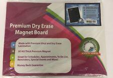 Weekly Dry Erase Meal Planner Board Calendar Fridge Magnet - 7 Day Magnetic Menu