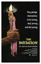 THE INITIATION (1984) ORIGINAL MOVIE POSTER  -  ROLLED