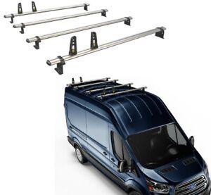 Van Guard Ford Transit 2014- ULTI Van Roof Bar 4x Bars 1750mm LWB Aluminium L3H2
