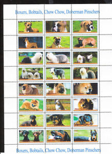 DOGS   - 96 !!!  stamps FULL SET  private issue LIMITED EDITION!!