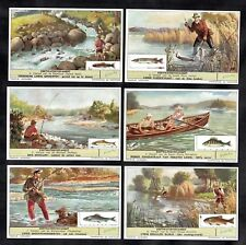 Freshwater Fishing Vintage Card Set 1955 Liebig Angling Rod Reel Salmon Pike