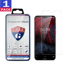 GLASAVE Nokia 6.1 Plus,X6 2018 Tempered Glass Screen Protector Clear Film