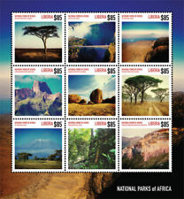 Liberia - 2014 - NATIONAL PARKS OF AFRICA - Sheet of 9 - Stamps - MNH