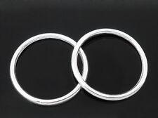 50 Anneaux Cercle Fermé Argenté 24mm Dia.