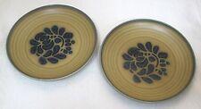 Pfaltzgraff Pair (2) Salad Plate Folk Art Pattern 6 3/4 USA Stamp IN Great Shape