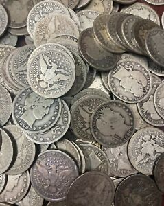 Silver Historical US Coin Lot Mercury & Barber Dime & Barber Quarter  (3 Coins)