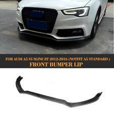 Front Lip Chin Spoiler Extension Fit For Audi S5 Bumper 2012UP Carbon Fiber