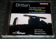 BRITTEN-THE WORLD OF THE SPIRIT/KING ARTHUR SUITE-CD 1996-RICHARD HICKOX-MINT