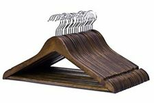 Esbenshades Premium Dark Walnut Solid Wood Hanger (Pack of 20)