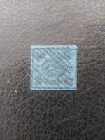 Brunswick #9 Used, 2sgr Black on Blue Paper, Scott Catalog Value $ 65.00