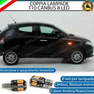 COPPIA LAMPADE FRECCE LED LATERALI LANCIA YPSILON II (846) T10 CANBUS NO ERRORE