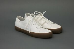 NWOB Brunello Cucinelli Mens 100% Leather Logo Skate Sneakers Size 42/8.5US A211
