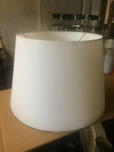 "Contemporary Pendant Hanging Drum Tapered Lamp shade w Diffuser 20"" White"