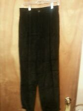 Womens Eddie Bauer size 12P black pleated corduroy pants gently worn with cuffs