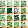 180x180cm Tropical Tree Leaves Shower Curtain Bathroom Mildew Waterproof & Mat