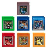 Pokemon For Game Boy Series Nintendo GBC Gold, Silver, Blue, Red, Green ESP/Eng