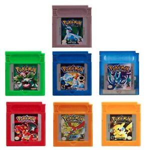Pokemon For Game Boy Series Nintendo GBC Gold, Silver, Blue, Red, Green ESP/Eng
