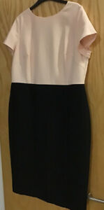 M&S COLLECTION WOMENS BLACK /BLUSH DRESS SIZE 18 BNWT