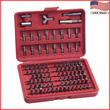 100pcs Security Bit Screwdriver Bit Set Torx Star Pozi Hex Tamper Proof Bolts US