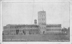 H66/ Mentor Ohio Postcard c1910 Mentor Knitting Mills Factory 157