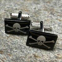 Pirate Flag Cufflinks / Nautical Flag / Pirate Jewelry / Nautical Cufflinks