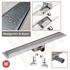 """Rectangular"" Stainless Steel Shower Wetroom Drainage Gully, 600mm to 1500mm"