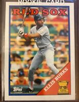 1988 TOPPS #269 ELLIS BURKS ROOKIE CARD, Boston Red Sox NM/MT