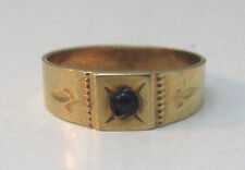 10K YELLOW GOLD BABY/CHILD RING SIZE 0.75 WITH BLUE STONE ACCENT MARKED OB **