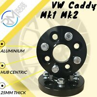 BLACK VW Caddy Mk1 Mk2 4x100 25mm Hubcentric Wheel spacers 1 pair inc bolts