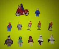 Lot of 12 Lego Star Wars Minifigures And Other Characters
