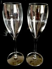 POMMERY  CHAMPAGNE GLASSES X 2 BRAND NEW UNBOXED