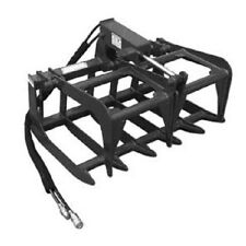 "NEW 48"",4' SKID STEER LOADER / COMPACT TRACTOR light weight GRAPPLE ROOT RAKE"